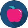 Icon showing an apple