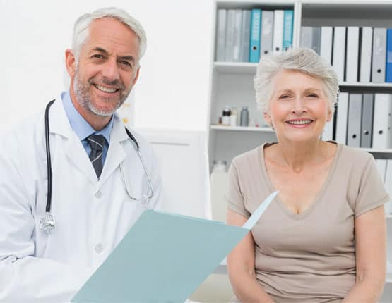 Image of doctor and a patient